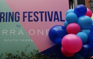organic balloon decor melbourne property launch blue pink aqua