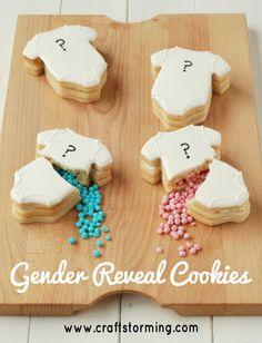 gender reveal onesie baby shower cookies image