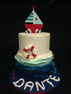 sailing boat custom birthday cake melbourne