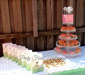 Mad Hatters tea party peter rabbit dessert table image