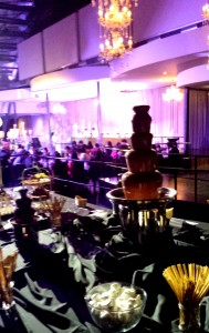 How Much Food Do I Need For My Party? This wedding chocolate fountain dessert buffet at Melbourne Pavilion for 300 guests was well received by all.