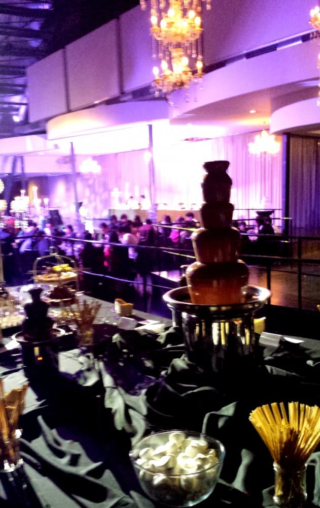 Melbourne Pavilion Wedding Chocolate Fountain Dessert Buffet