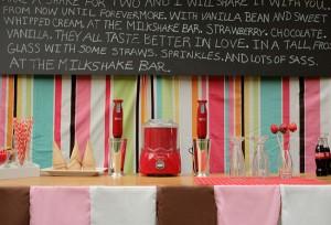 Milkshake mini buffet drinks station image