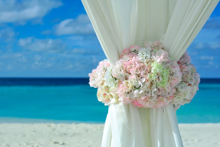 beach wedding marquee wedding reception