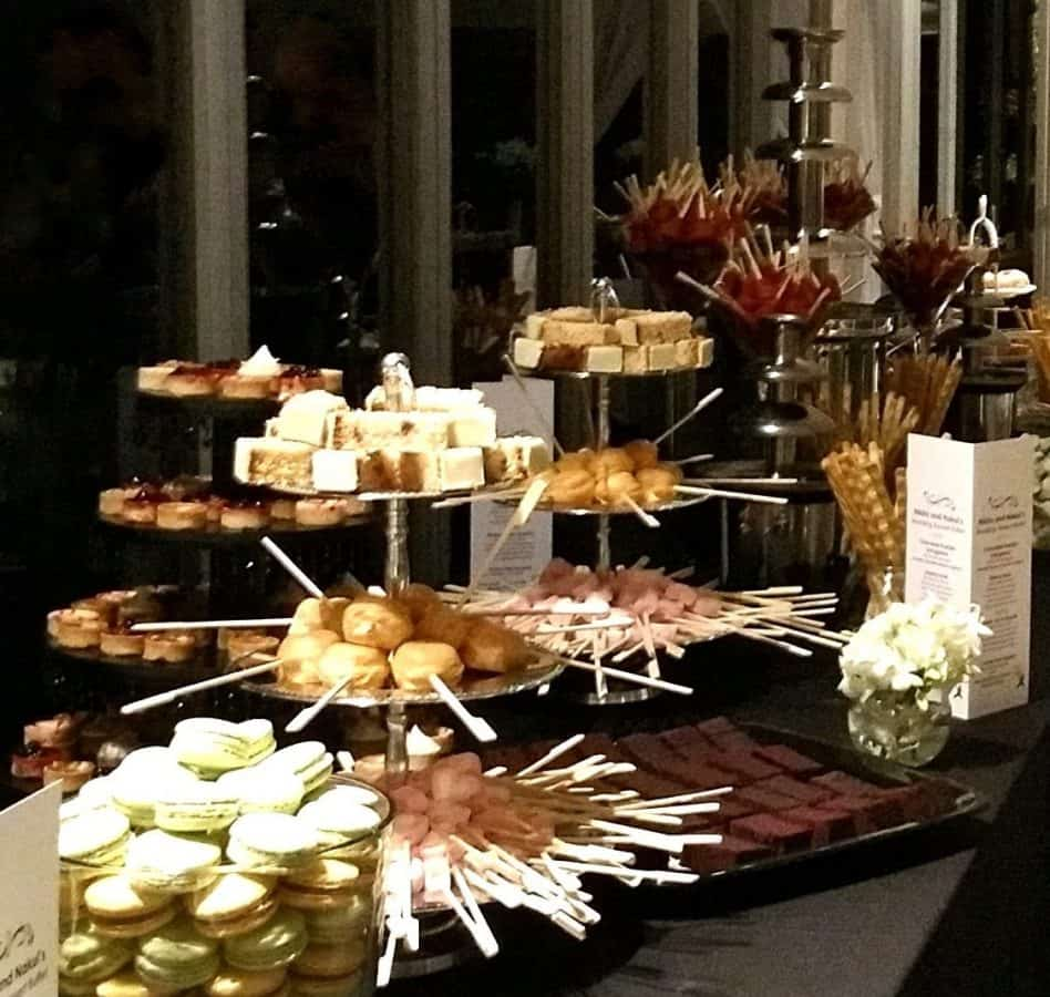 wedding chocolate fountain dessert station party food melbourne