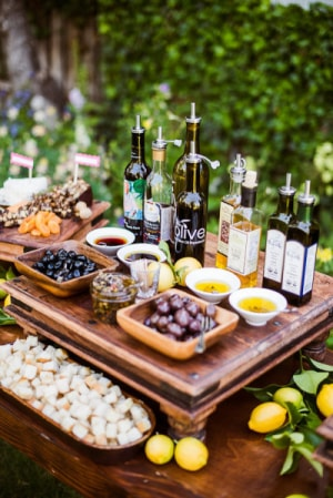 classic evoo and bread station with modern twist