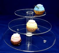 clear-3-tier-maypole-cupcake-stand cupcakes melbourne