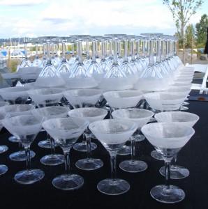 cocktail rental martini glasses image