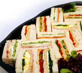 ribbon sandwiches fresh cut party platters birthday catering banner