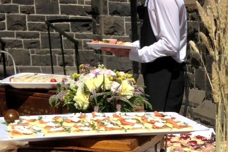 country church style bluestone garden wedding catering caulfield image