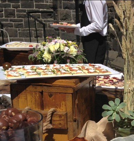 market garden wedding afternoon tea sandwiches