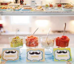 moustache mexican food station