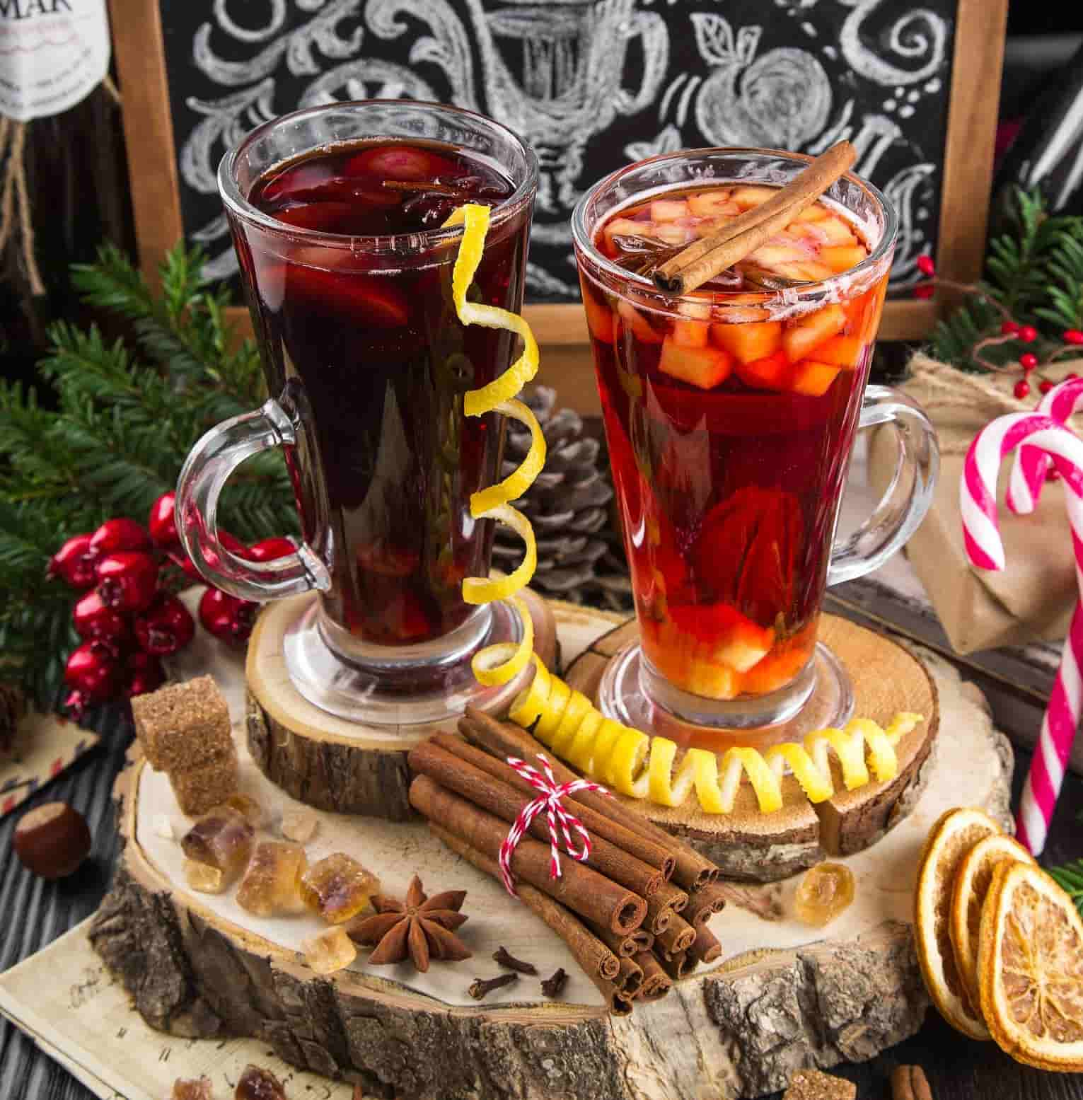 mulled wine warm hot cocktails