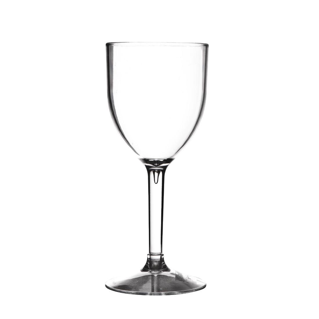 polycarbonate wine glass quality glassware hire 190ml