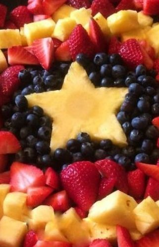 superhero healthy party food fresh fruit platter
