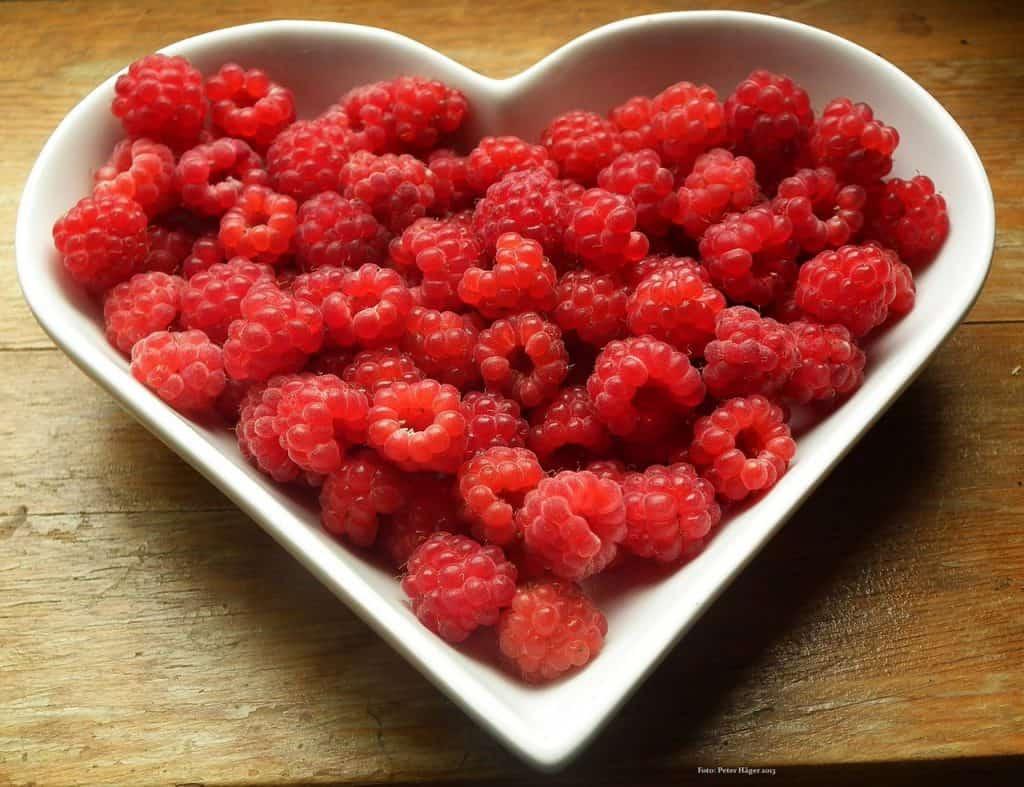 fresh raspberry heart fruit platter party food melbourne
